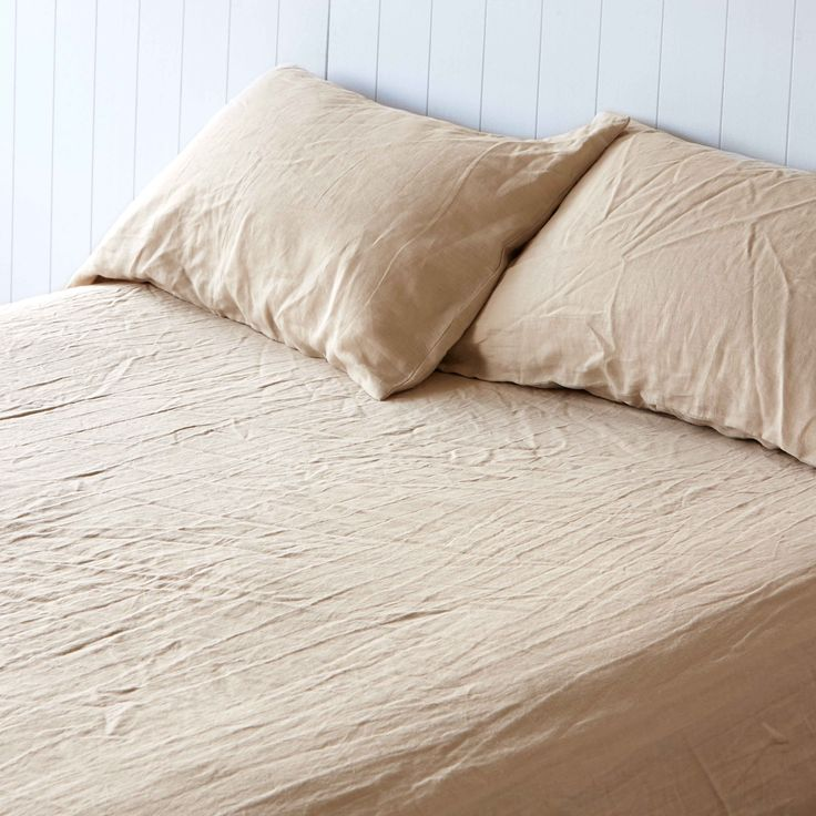 Sandstorm Pure Linen Pillowcases by Montauk Style