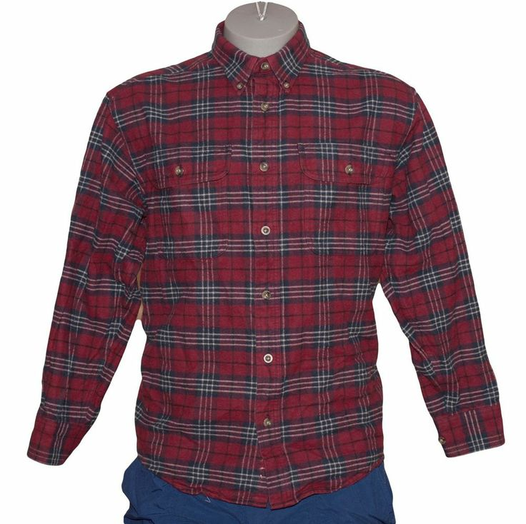 Cabela 39 s deerskin soft chamois men 39 s heavy weight l s for Heavy plaid flannel shirt