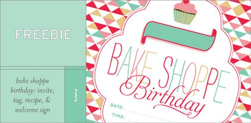 Welcome to part two of Bake Shoppe Birthday extravaganza, the trilogy! For details about the event itself, visit the previous post. For a free printable pdf download of the party invitations, welcome sign, tags, & recipe card, look no further!...