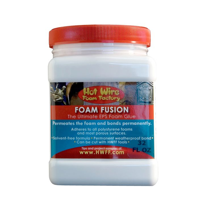 Our Foam Fusion is the ultimate EPS foam glue! It permeates the foam and bonds around its cells. Other glues containing solvents will dissolve foam over t...