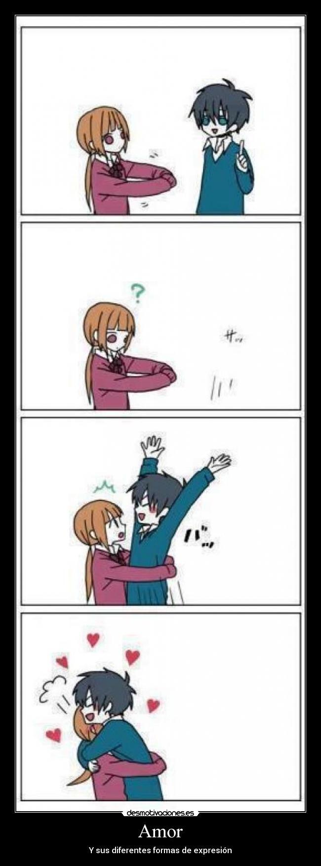 carteles amor amor love grrr beellamy hoy anime tonari kaibutsu dia abrazo jajaja awww desmotivaciones