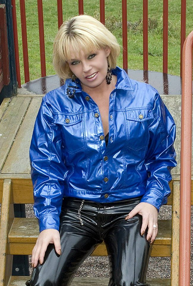 155 Best Fetish Nylon Vinyl Pvc Wet Look Rain Jacket
