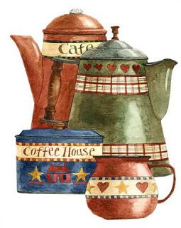 Decoupage sheets: Sheets of cups, antique teapots ...