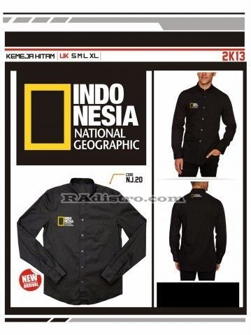 jual jaket national geographic online murah (NJ 20) Kemeja Photographer