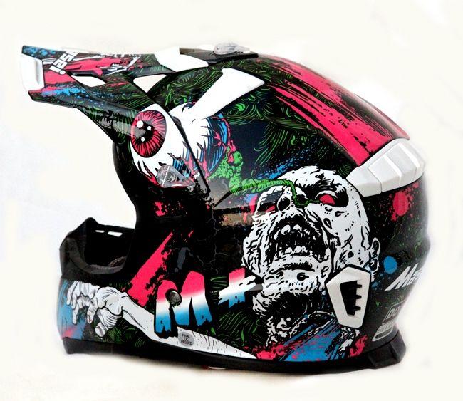 MASEI M+ White FRANKENSTEIN MONSTER 316 ATV MOTOCROSS MOTORCYCLE KTM DIRTBIKE HELMET
