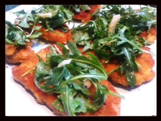Chicken Milanese with Fennel and Arugula Salad