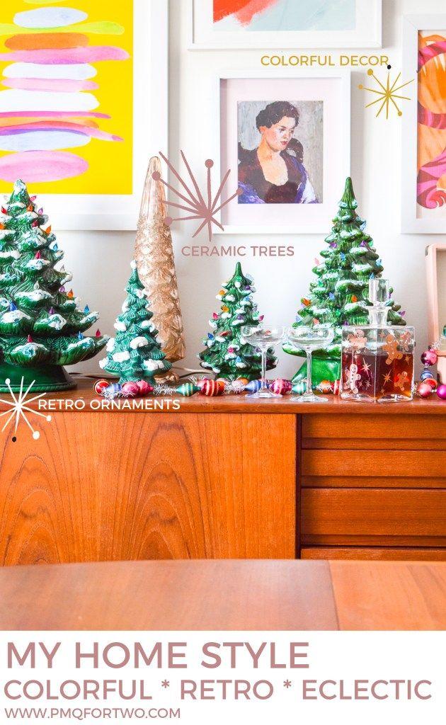 Ceramic Christmas Tree Sideboard Display Holiday Decor