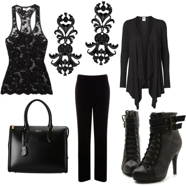 """office goth"" by romana-trabelsi on Polyvore"