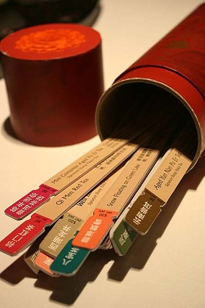 Chinese tea fortune telling sticks
