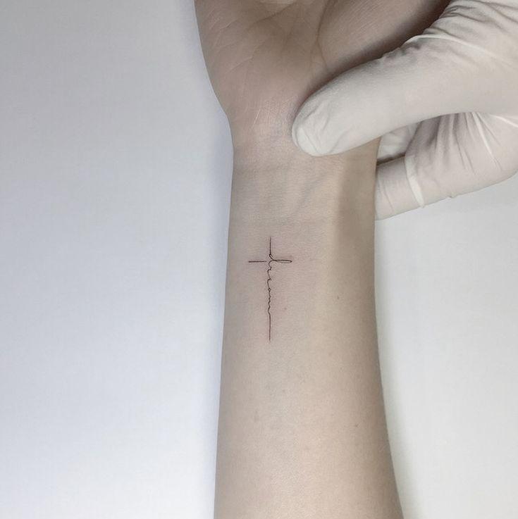 "12.9 mil curtidas, 158 comentários-• Playground Tattoo • Playground Tattoo (@ playground_tat2) no Instagram: "". . Cross lettering. ° …"