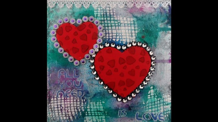 Mixed Media Canvas  - All You Need Is Love