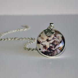 Shiny silver 40mm round Hydrangea Flower - WildSparrowDesign