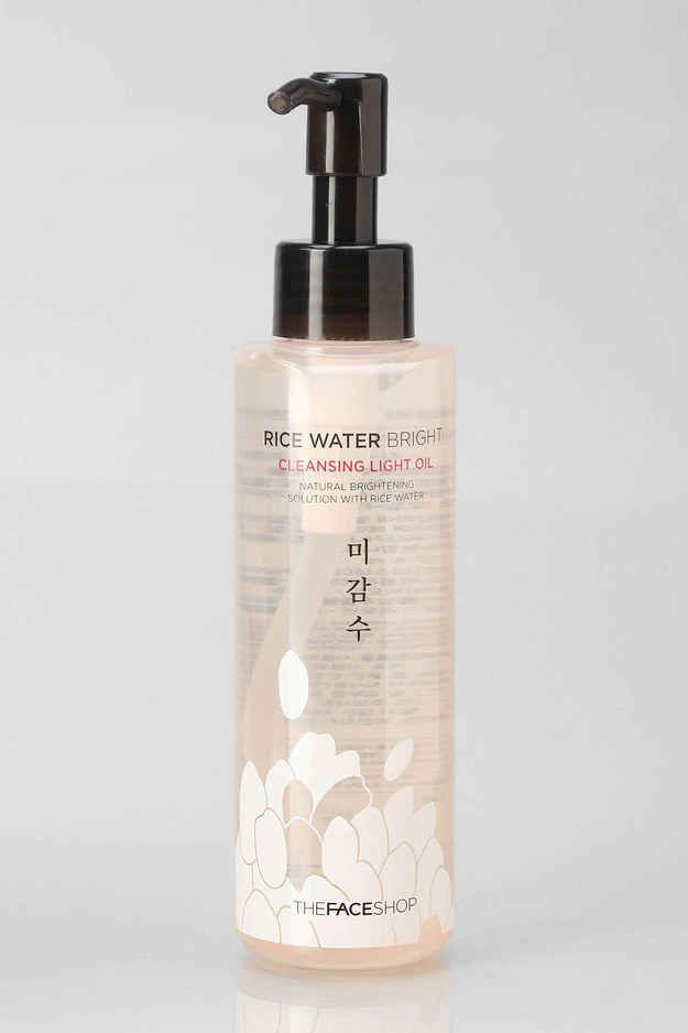 The Face Shop Rice Water Bright Cleansing Light Oil, $18 | 13 Must-Have Skincare Products For Ladies In Their Late 20s