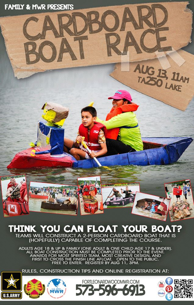 Register now-Aug 11: Cardboard Boat Race @ TA250! Open to the public and free to enter. For more information call 573-596-6913