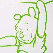 Winnie the Poeh muurtekening