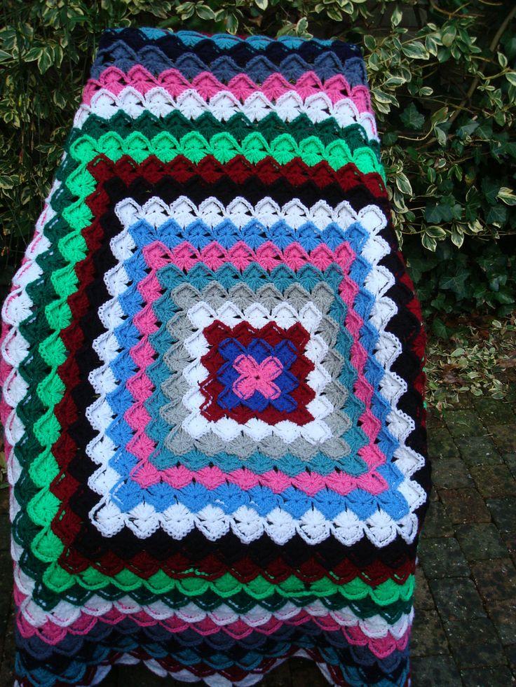 Warme vierkante deken door crochetbyjacobi op Etsy