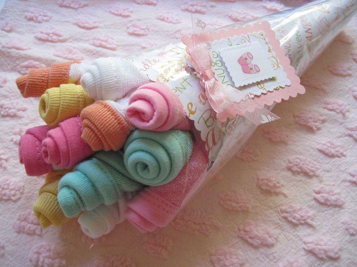 Baby Washcloth Bouquet Girl Boy or Neutral. $16.00, via Etsy.