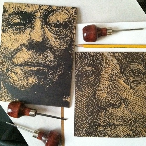 printmaking - wish i could find who did this!