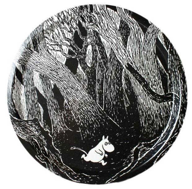 "Moomin tray ""Running Moomin"", Ø 31 cm « Moomin Trays « Ihanaiset.fi"