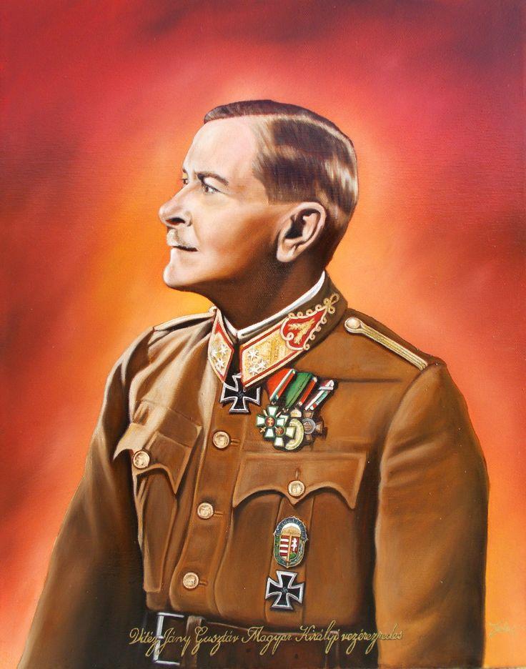Vitéz Jány Gusztáv Magyar Királyi vezérezredes portréja (40x50 cm-es olajfestmény)