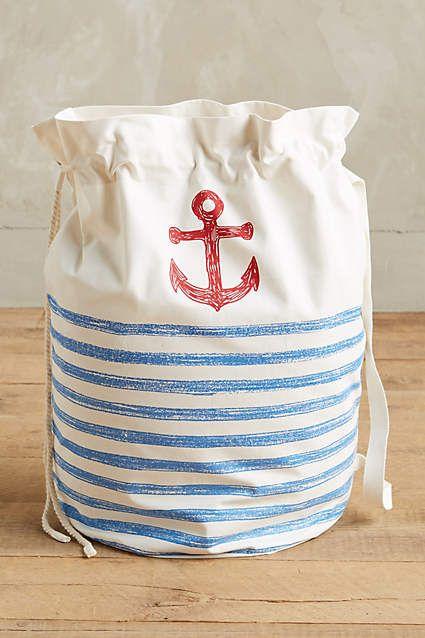 Summer Sea Laundry Bag - anthropologie.com