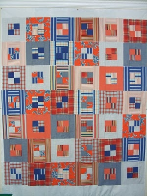 recycled shirt quilt top