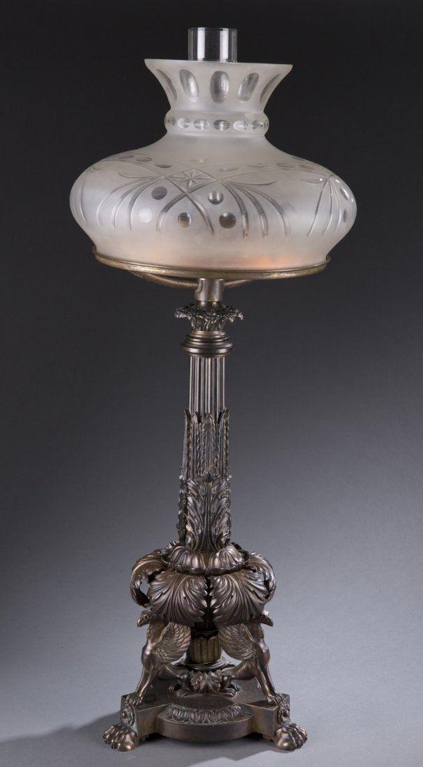 English Sinumbra Lamp, Mid 19th Century