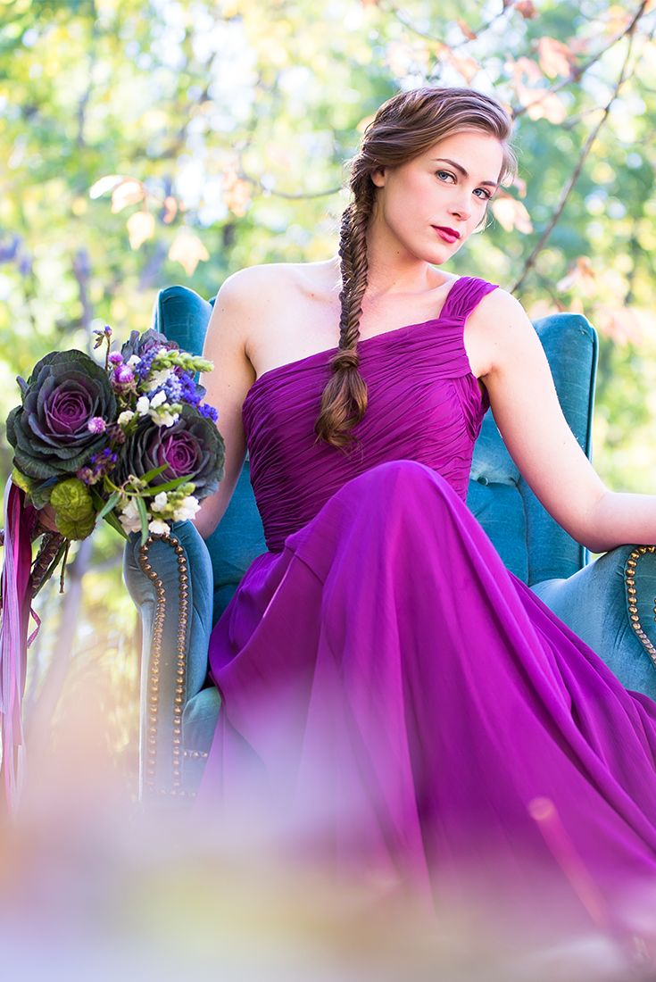 Such a vibrant color for a bridesmaid dress. Love it!