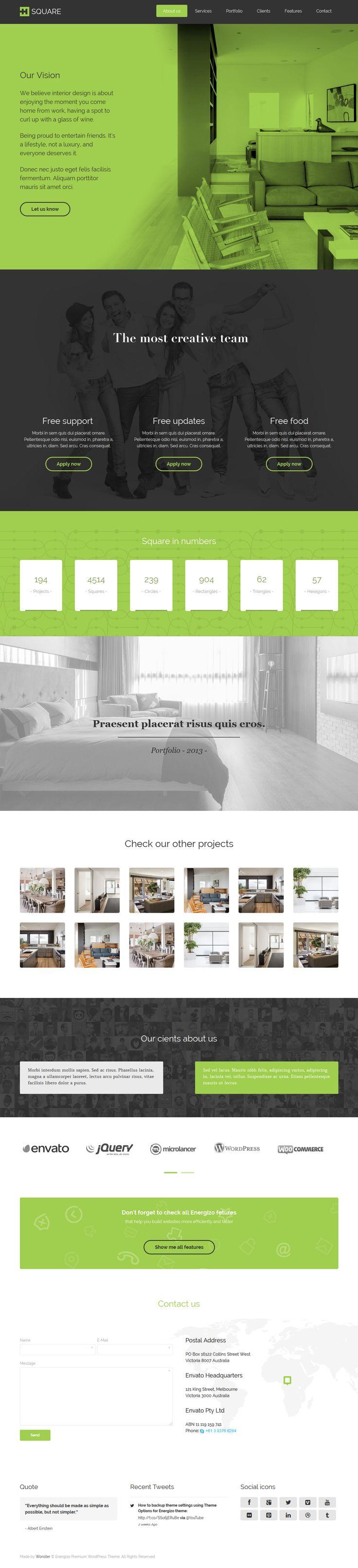 Energizo   Premium Responsive Multi-Purpose Theme #web #design