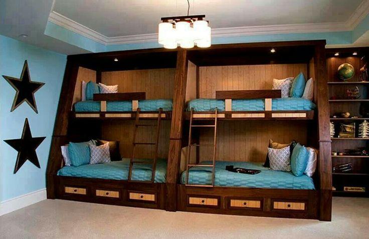 Bunk Beds Dark Wood Boat Interior Decorating Pinterest Bunk Bed Dark Wood And Kids Rooms