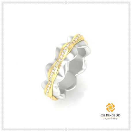 3D CAD Eternity Band Ring