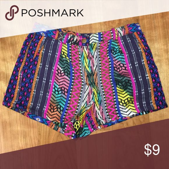 AZTEC CROCHET PRINT SHORTS perfect for any occasion. pair with any color tee for a cute day outfit, or dress it up with a white cami and wedges. NEVER WORN BEFORE!!!! Shorts
