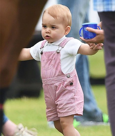 Prince George went to his daddy Prince William's polo match last weekend!