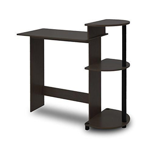 Furinno 11181EX/BK Compact Computer Desk Espresso/Black