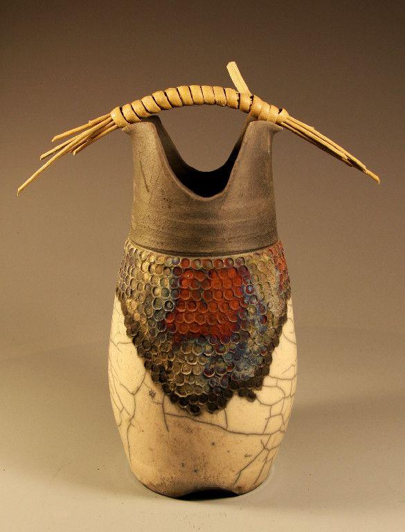 Raku container    from tea parties to tea ceremonies. . .i'm into it
