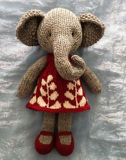 Ravelry:knitting pattern for elephant and dress