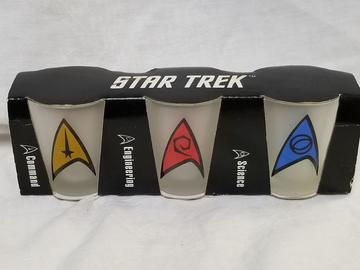 NIB FROSTED SHOT GLASSES FROM STAR TREK THE EXPERIENCE LAS VEGAS HILTON