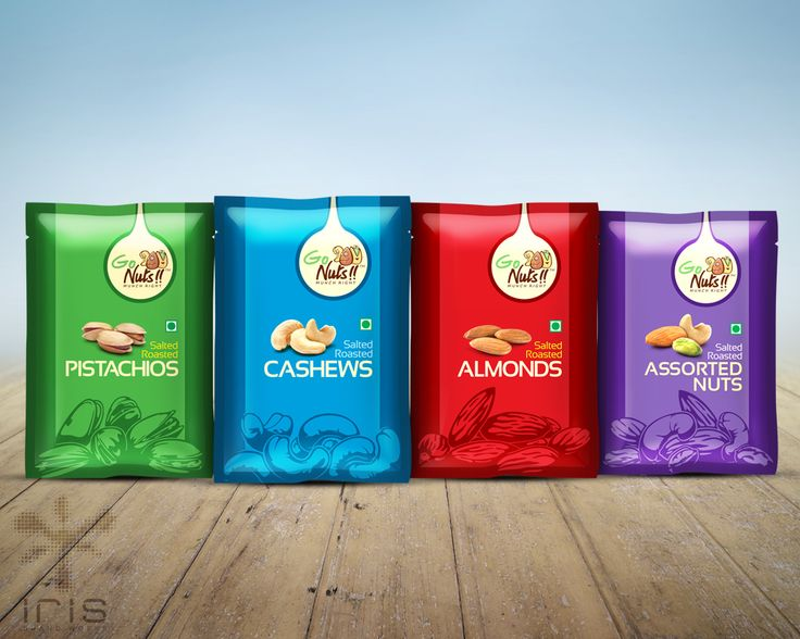 Packaging design for a dried fruit and nuts brand