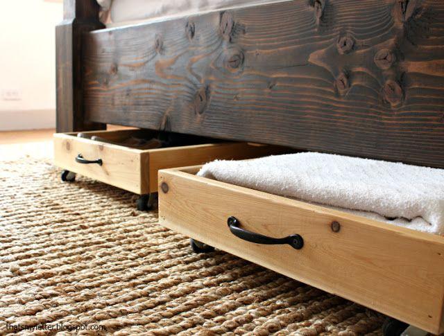 Выдвижные ящики для хранения под кроватью своими руками