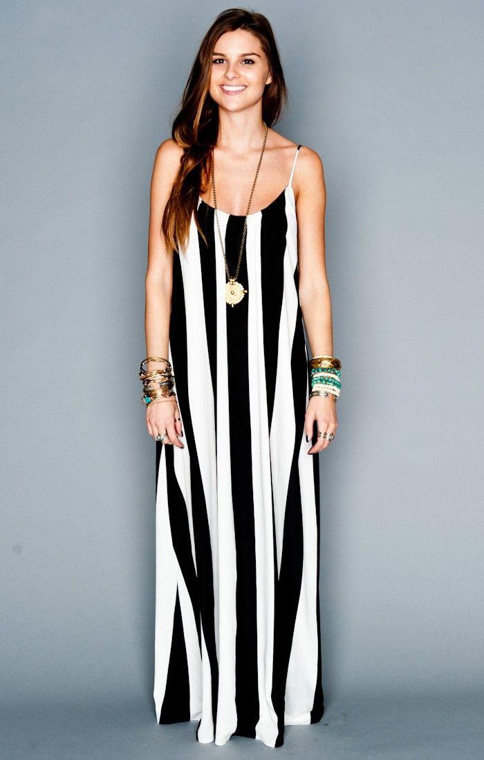 Trapeze Maxi Dress ~ Black & White Stripe // Show Me Your ...