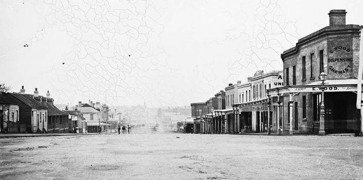 Victoria St in West Melbourne,Victoria in 1870.