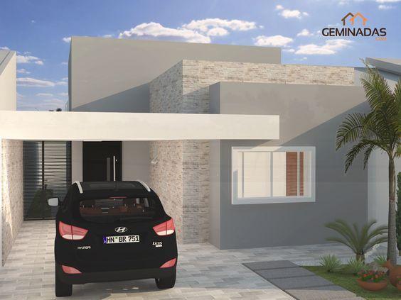 Fachada De Casa Moderna De Un Piso Sencilla Y Elegante En 2019 Casa Sencillas Casas Sencillas