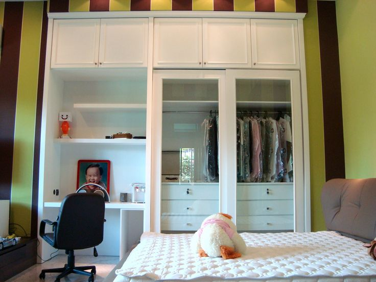 Green Eco Wardrobe Design By Simple Luxury Interior SurabayaIndonesia