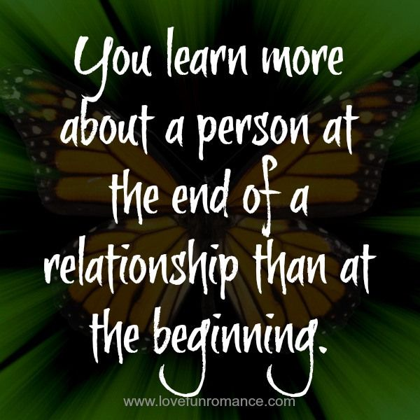 At the End of a Relationship... you discover that you were not as important as you once thought you were...