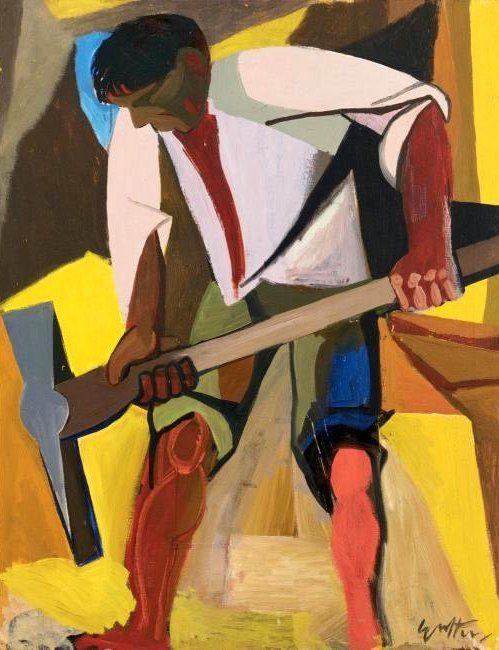 Guttuso, Renato (1912-1987) - 1947 Sulfur Miner (Sotheby's Milano) #TuscanyAgriturismoGiratola