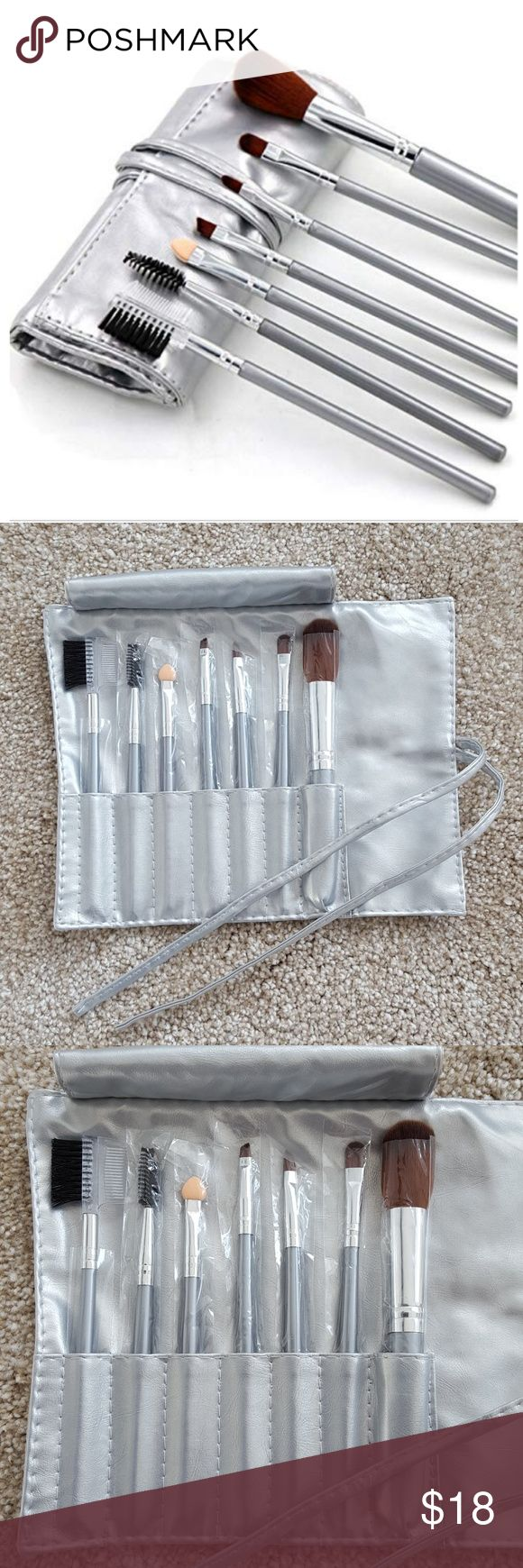 Make Up Brush 7 piece set with Case 7 piece set make-up brush w/ soft synthetic …