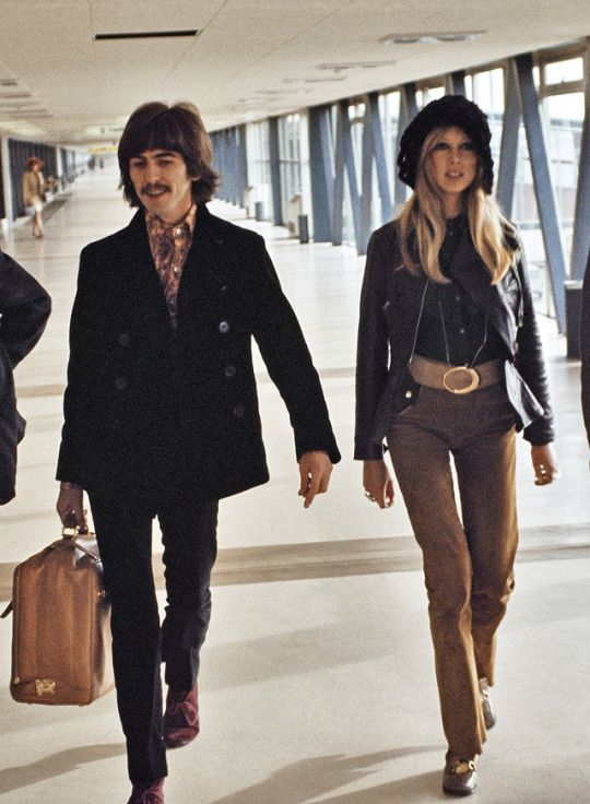 george harrison and i don't know who she is, sorry, i'm dumb i guess...<<it's cool dude don't beat yourself up