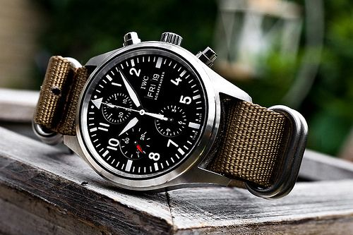 "One of my top IWC picks. A few more ""hits"" of red would have been cool (within the chronograph maybe?). Anyway, I like this face/band configuration - a killer looking timepiece."