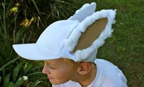 Clever way to rework a baseball cap - Easter hat