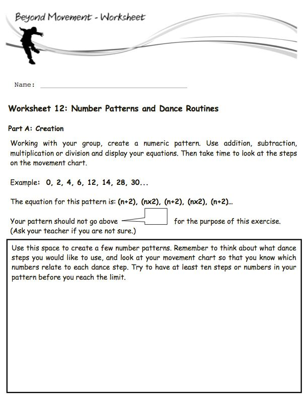My Dance Homework, Take One: